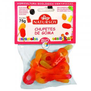 CHUPETES DE GOMA 75Gr. NATURSOY