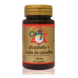 ALCACHOFA + COLA DE CABALLO 430Mg. 60 CAPSULAS OBIRE