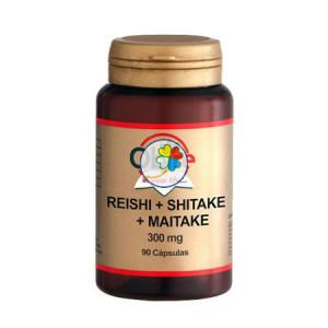 REISHI + SHIITAKE + MAITAKE 300Mg. 90 CAPSULAS OBIRE