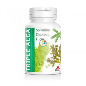 TRIPLE ALGA (Chlorella+Espirulina+Fucus) 120 CAPSULAS INTERSA