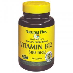 VITAMINA B12 500Mcg. 90 COMPRIMIDOS. NATURE´S PLUS