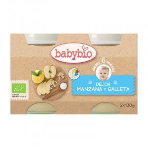 POTITOS DELICIA DE MANZANA Y GALLETA BIO 2x130Gr. BABYBIO