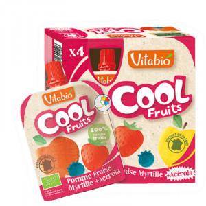 VITABIO COOL FRUITS MANZANA-FRESA-ARANDANOS BIO 4x90Gr. BABYBIO