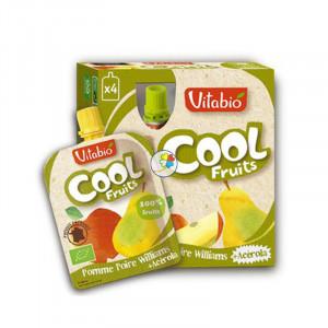 VITABIO COOL FRUITS MANZANA-PERA BIO 4x90Gr. BABYBIO