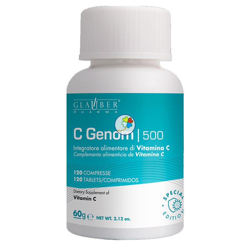 C-GENOM 500 DNA 120 COMPRIMIDOS GLAUBER PHARMA