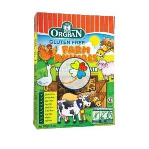 RICE & CORN VEGE PASTA ANIMAL SHAPES 200Gr. ORGRAN