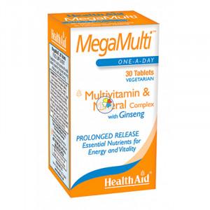 MEGAMULTI CON GINSENG 30 COMPRIMIDOS HEALTH AID