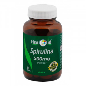 ESPIRULINA 500Mg. 60 COMPRIMIDOS HEALTH AID