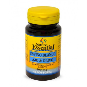 ESPINO BLANCO, AJO Y OLIVO 500Mg. 50 PERLAS NATURE ESSENTIAL