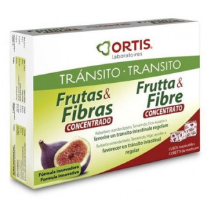 FRUTAS Y FIBRAS CONCENTRADO 12 CUBOS ORTIS