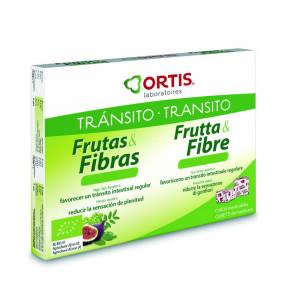 FRUTAS Y FIBRA TRANSITO INTESTINAL 24 CUBOS ORTIS