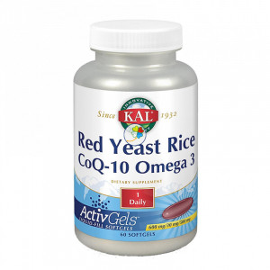 KAL RED RICE/Q10/OMEGA 3 60 PERLAS KAL