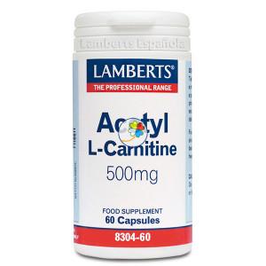 L-ACETIL CARNITINA 500Mg. 60 CAPSULAS LAMBERTS