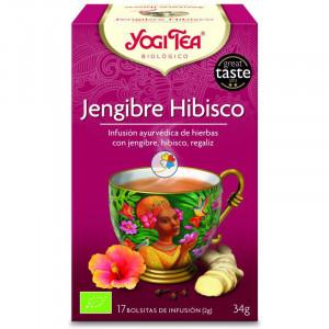 YOGI TEA HIBISCO Y JENGIBRE 17 FILTROS