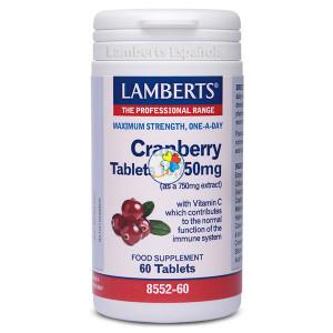 CRANBERRY 18.750Mg. 60 TABLETAS LAMBERTS