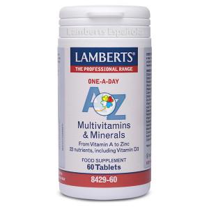 A-Z MULTIVITAMINAS Y MINERALES 60 TABLETAS LAMBERTS