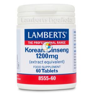 GINSENG KOREANO 1200Mg. 60 TABLETAS LAMBERTS