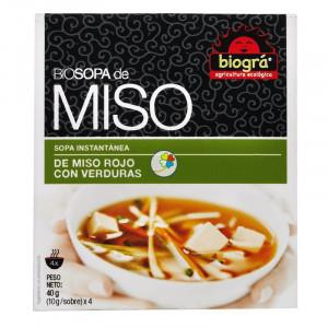 SOPA DE MISO ROJO CON VERDURAS 4x10Gr. BIOGRA