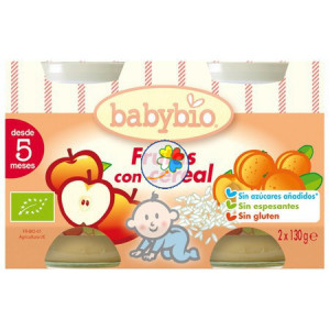 BABYBIO FRUTAS CON CEREALES 2x130Gr. BABYBIO