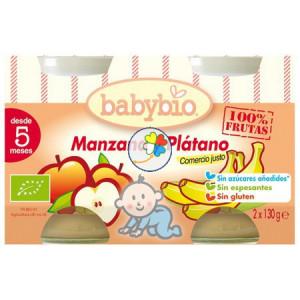 BABYBIO MANZANA 2x130Gr. BABYBIO