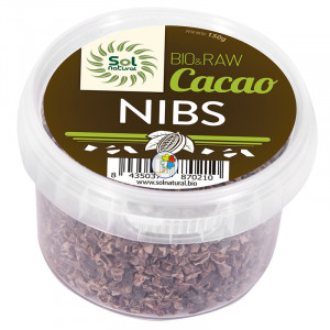 CACAO NIBS CRUDO RAW BIO 150Gr. SOL NATURAL