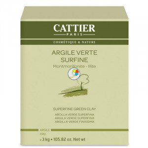 ARCILLA VERDE SUPERFINA 3Kg. CATTIER PARIS
