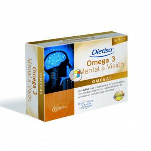 OMEGA 3 MENTAL Y VISION 45 PERLAS DIETISA